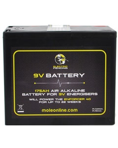 Mole Electric Fencing Air Alkaline Battery - 9V/120Ah