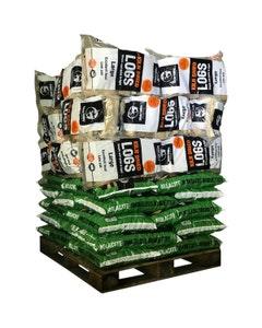MVF Molacite Smokeless Briquettes and Kiln Dried Logs -49 Bag Pallet Bundle