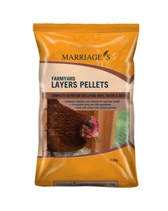 Marriages Farmyard Layers Pellets - 7.5kg
