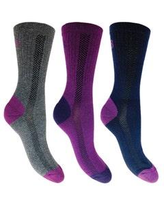 Cleversocks Bramble Ladies Lightweight Hiker Socks – Pack of 3