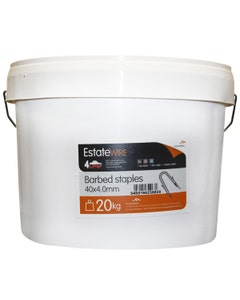 ArcelorMittal Estate Wire Barbed Staples 40mm x 4mm - 20kg