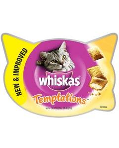 Whiskas Chicken & Cheese Temptations Cat Treats - 60g