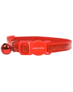 Ancol Gloss Reflective Cat Collar - Red