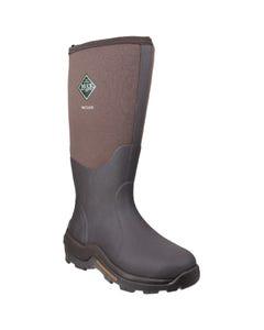 Muck Boots Adults Wetland Hi Patterned Wellington Boots - Bark