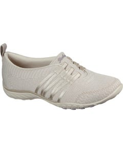 Skechers Ladies Breathe Easy Approachable Slip On Comfort Trainers - Natural
