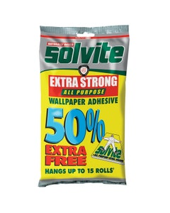 Solvite Extra Strong Wallpaper Adhesive + 50% Extra Free