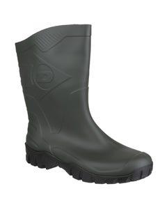 Dunlop Adults Dee Calf Length Wellington Boots - Dark Green