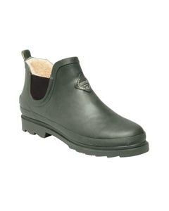 Regatta Ladies Harper Fur Lined Short Wellington Boots - Thyme Leaf