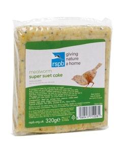 RSPB Super Suet Cake With Mealworm Wild Bird Food - 320g