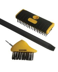 The Roughneck Patio and Decking Brush Set - 2 Piece