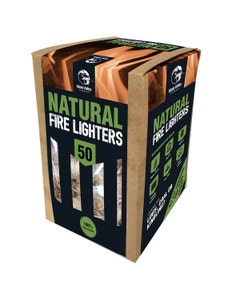 Mole Valley Natural Firelighters - Pack of 50