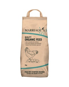 Marriages Organic Poultry Starter Crumb - 5kg
