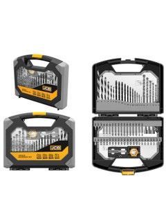 JCB 69pc Combination Drill Bit Set with Head Light