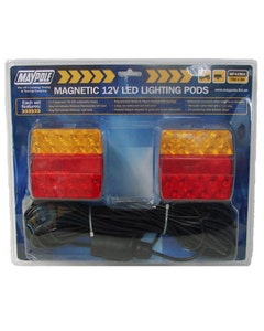 Maypole MP44964 12V Magnetic LED Lighting Pod with 10m Trailer Cable