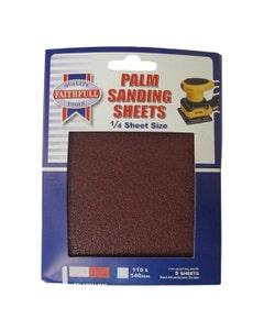 Faithfull Quarter Sanding Sheets Fine 115 x 140mm - 5 Pack