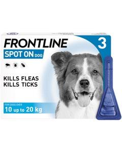 Frontline Spot On Dog - Medium 10-20kg - 3 Pack