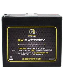 Mole Electric Fencing Air Alkaline Battery - 9V/175Ah