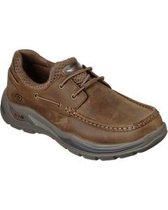 Skechers Mens Arch Fit Motley Hosco Slip On Shoes - Desert
