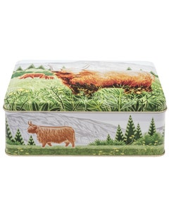 Jenny Tyden-Wright Highland Cow Biscuit Tin - 320g