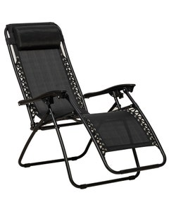 Royalcraft Zero Gravity Relaxer Black Chairs - Pack of 2