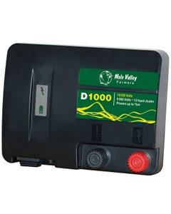 MVF D1000 12V / 230V Dual Power Electric Fencing Energiser