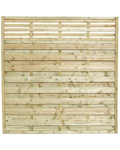 Forest Garden Europa Kyoto Fence Panels 1.8m x 1.8m - Pack of 3