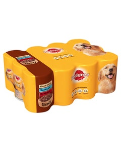 Pedigree Dog Tins Mixed Selection In Gravy - 12 x 400g