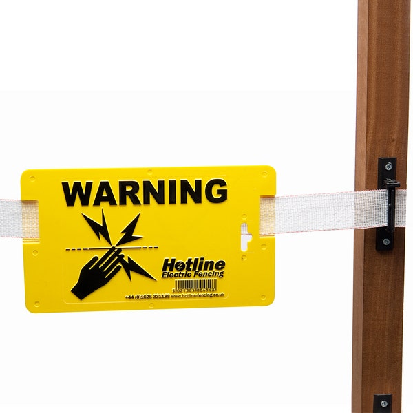 An image of Hotline P40 Electric Fence Warning Sign