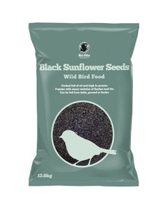 MVF Black Sunflower Seeds Wild Bird Food - 12.6kg