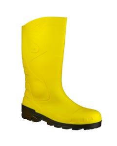 Dunlop Adults Devon Full Safety Wellington Boots - Yellow/Black