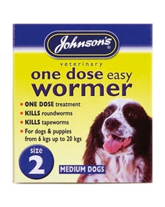 Johnson's One Dose Easy Wormer - Size 2