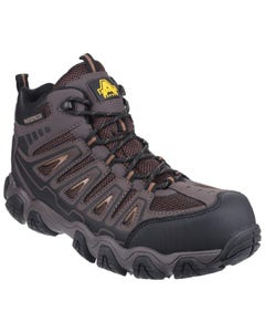 Amblers Mens AS801 Waterproof Non-Metal Safety Boots - Brown