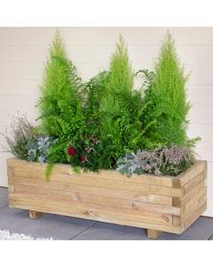 Forest Garden Agen Trough Planter - Unassembled