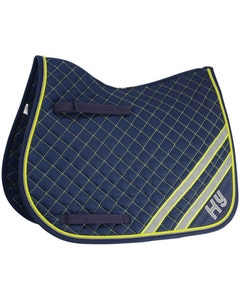 HyWITHER Fluorescent Yellow/Silver Reflector Saddle Pad - Cob/Full