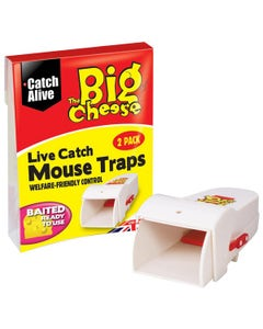 The Big Cheese Live Catch Mouse Traps - Pack of 2