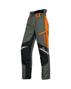 STIHL Mens Function Ergo Chainsaw Trousers - Green/Orange X-Large
