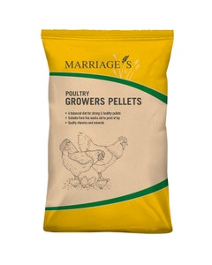 Marriages Poultry Growers Pellets - 20kg