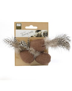 House of Paws 3 Scurry Balls With Feathers Cat Toy