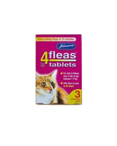 Johnson's 4Fleas Tablets For Cats & Kittens 3 Treatment Pack - 3 x 11.4mg