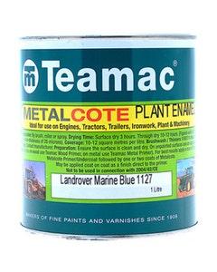 Teamac Land Rover Blue Metalcote Plant & Industrial Enamel Paint - 1L
