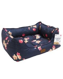 Joules Floral Print Box Pet Bed - Medium