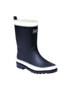 Regatta Children's Foxfire Wellington Boots - Navy/White