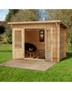 Forest Garden Harwood Log Cabin 2m x 3m 34kg F/R W/U - Unassembled