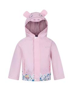 Regatta Childrens Peppa Pig Waterproof Animal Hood Jacket