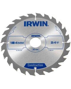 Irwin Circular Saw Blade 184mm x 30mm x 24T