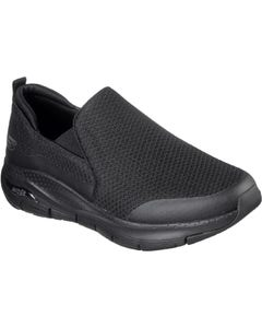 Skechers Mens Arch Fit Banlin Slip On Sports Shoes - Black