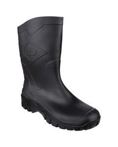 Dunlop Adults Dee Calf Length Wellington Boots - Black