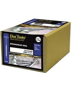 Eliza Tinsley Galvanised Springhead Nail 65mm - 2.5kg