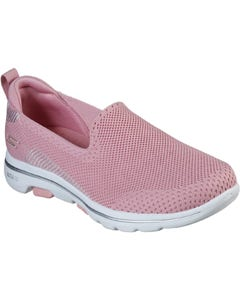 Skechers Ladies Go Walk 5 Prized Sport Shoes - Light Pink