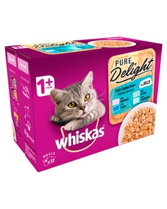 Whiskas Pure Delight Fish Selection in Jelly - 12 x 85g